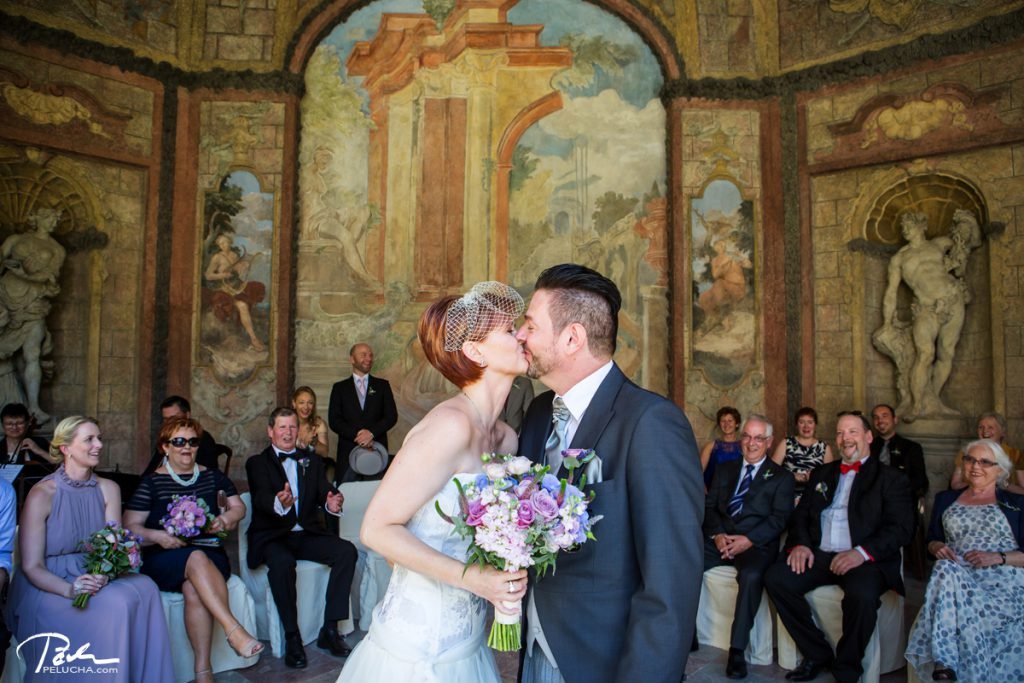 the first kiss sealing their marriage