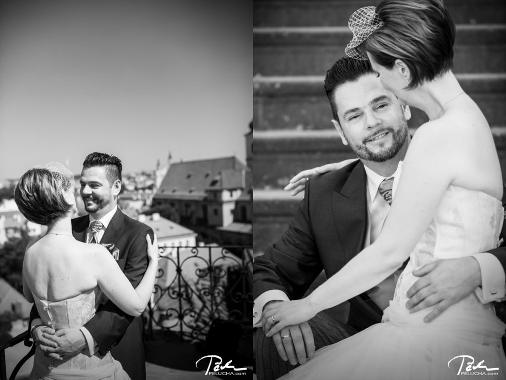 two photos in one of the couple