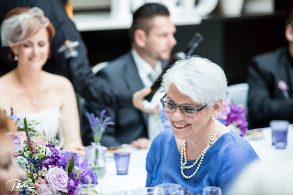 groom's mother smiling