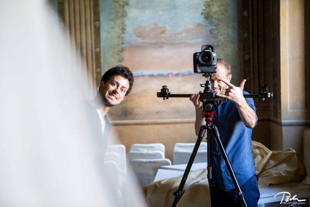 boys videographers posing for us